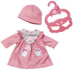Baby Annabell My First Pohodlné oblečení červené šatičky