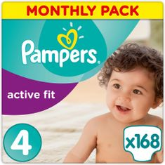 Pampers plenice Premium Protection Active Fit 4 Maxi, 168 kosov