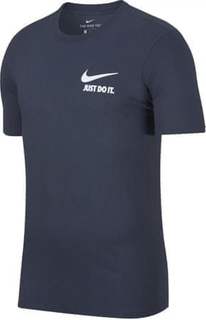 Nike moška majica M NSW Tee Jdi+ 1 Thunder Blue White, 2XL, modra