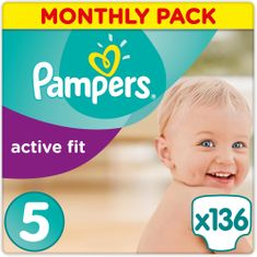 Pampers Pieluchy Premium Protection Active Fit 5 Junior 136 szt
