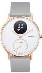 Nokia Steel HR (36mm) - Rose Gold w/ Grey Silicone wristband