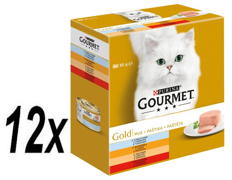 Gourmet Gold Multipack 12 x (8x85g) - paštiky