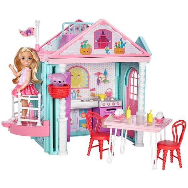 Mattel Barbie Chelsea a domeček