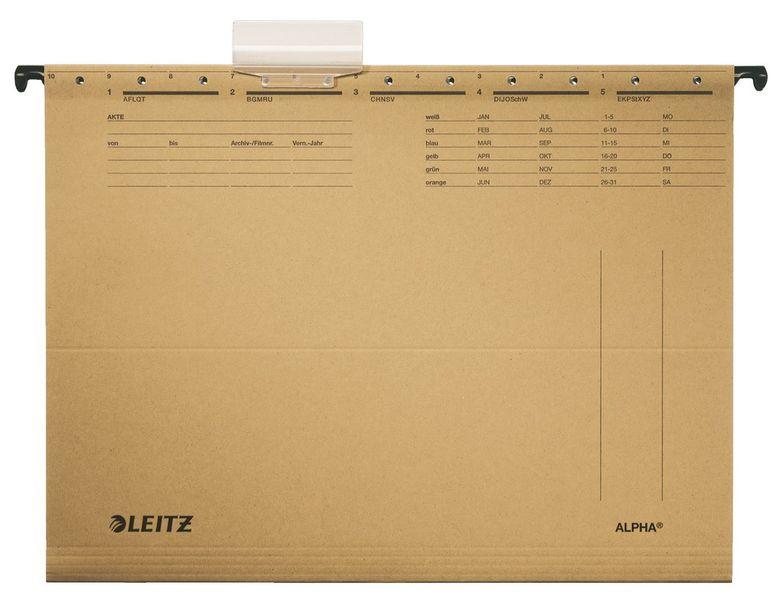 Závěsné desky Leitz ALPHA hnědé