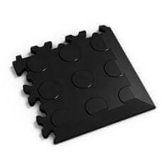 Fortelock Černý plastový vinylový rohový nájezd 2046 (penízky) - 14 x 14 x 0,7 cm