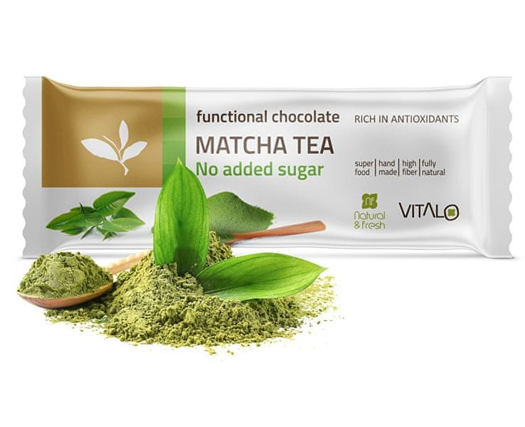 Vitalo Funkční čokoláda Matcha tea 25g