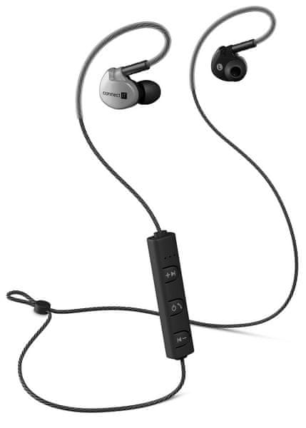 Connect IT Wireless Sport Sonics Bluetooth, antracitová