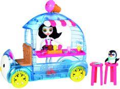 Mattel Enchantimals Zmrzlinový vozík s tučňákem - rozbaleno