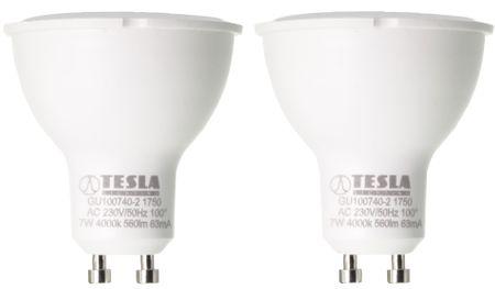 Tesla żarówka LED GU10, 7W, zimna biel, 2 sztuki
