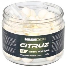 Nash Plovoucí Boilies Citruz Pop Ups White + 3 ml Spray