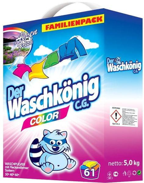 Waschkonig Prášek na praní Color 5 kg (61 praní)