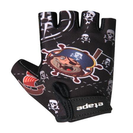 Etape dziecięce rękawiczki rowerowe Tiny, czarne 3-4