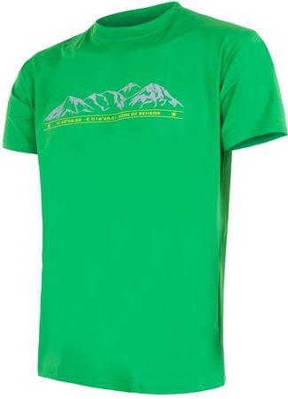 Sensor moška majica s kratkim rokavom Coolmax Fresh PT Hory, M, svetlo zelena