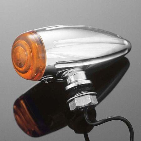Highway-Hawk svetlo na motorku BULLET Tech Glide, chróm (1ks)