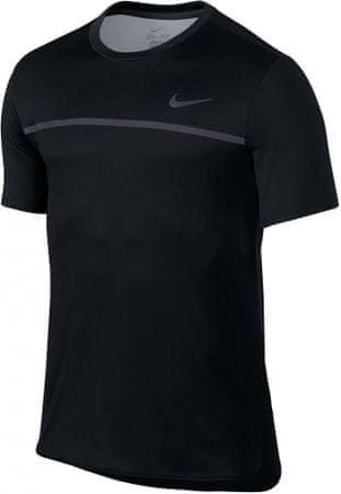 Nike moška tenis majica Challenger Crew Black Gridiron Black, črna, S