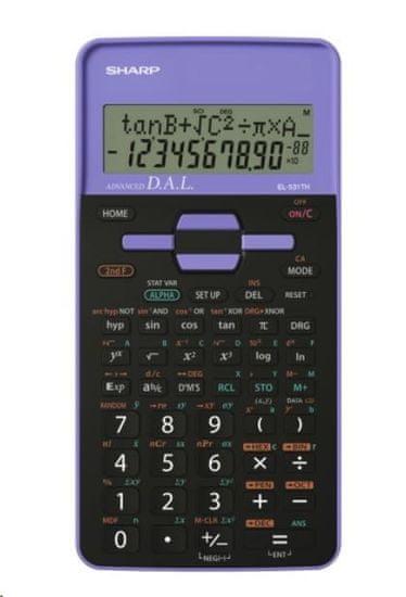 Sharp tehnični kalkulator EL531THBPK, črno-vijoličen