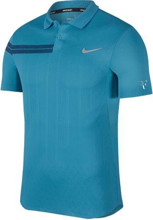 Nike RF M NKCT Adv Polo PS Neo Turq Metallic Silver M