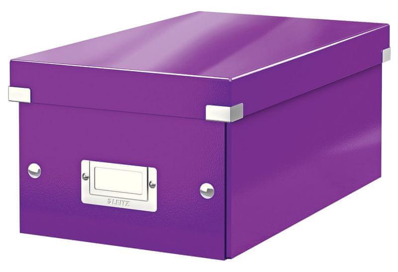 Krabice CLICK & STORE na DVD, purpurová