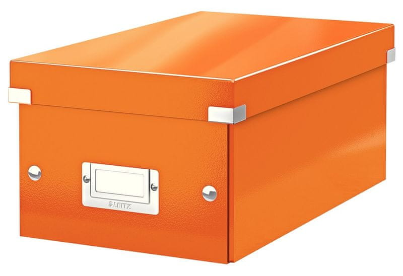 Krabice CLICK & STORE na DVD, oranžová