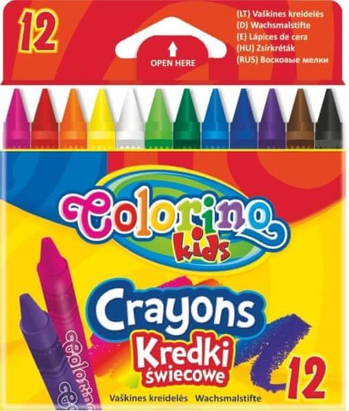 Pastelky voskové Colorino 12 barev