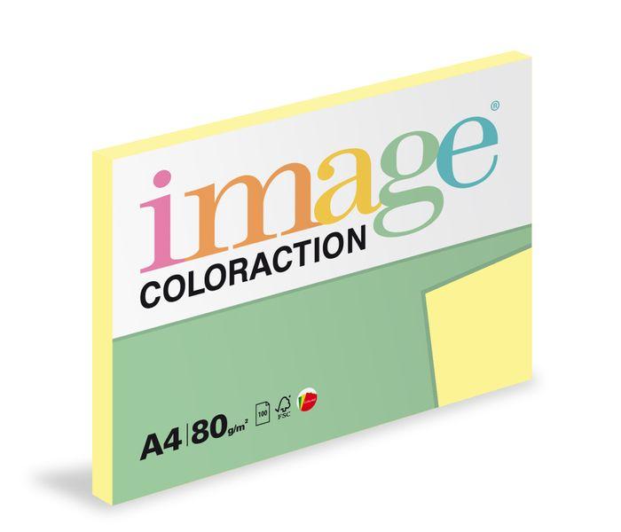 Papír kopírovací Coloraction A4 80 g žlutá pastelová 100 listů