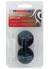 Unsquashable set dveh žogic za squash, tekmovalen (2 rumeni piki)