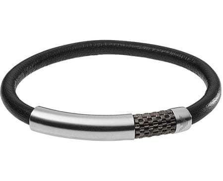 Emporio Armani Kožený náramek s ocelovou sponou EGS2385020