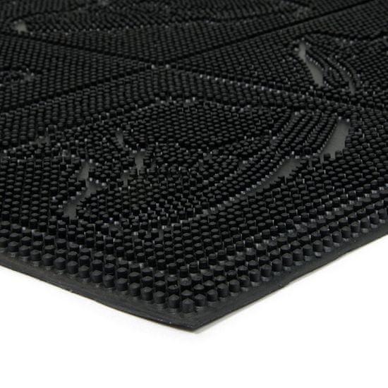 FLOMA Gumová vstupní kartáčová rohož Shoes - Squares - 60 x 40 x 0,7 cm