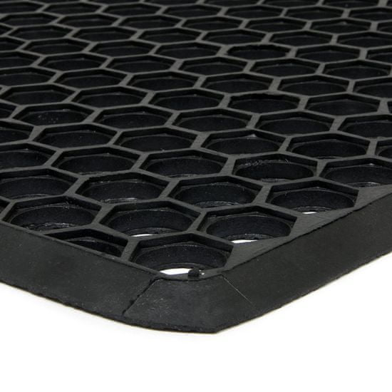 FLOMA Gumová vstupní rohož Hexagon - 70 x 40 x 1,2 cm