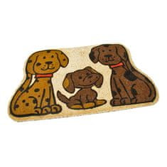 FLOMAT Kokosová vstupní rohož Happy Dogs - 75 x 45 x 1,7 cm