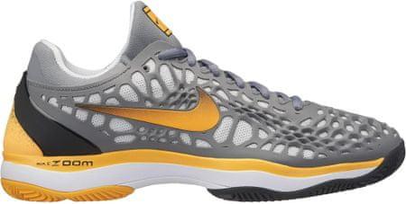 Nike Zoom Cage 3 Clay Tennis Shoe Cool Grey Laser Orange-Black-White 42,5