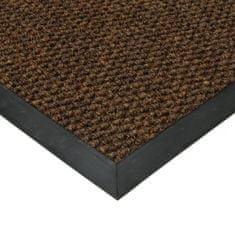 FLOMA Hnědá textilní zátěžová vstupní čistící rohož Fiona - 50 x 90 x 1,1 cm