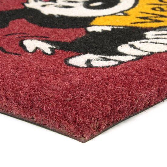FLOMA Kokosová vstupní rohož Welcome - Dog - 75 x 45 x 1,7 cm