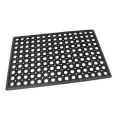 FLOMAT Gumová vstupní čistící rohož Honeycomb - Edge - 60 x 40 x 1,5 cm