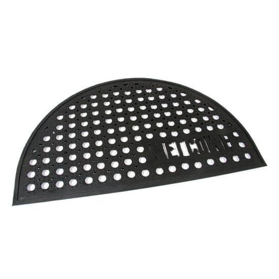 FLOMA Gumová vstupní čistící půlkruhová rohož Honeycomb - Welcome - 75 x 45 x 1,5 cm