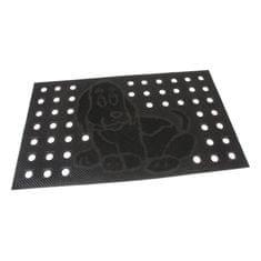 FLOMA Gumová vstupní děrovaná kartáčová rohož Dog - 75 x 45 x 0,7 cm