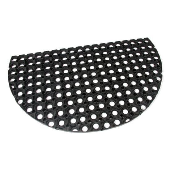 FLOMA Gumová vstupní čistící půlkruhová rohož Honeycomb - 75 x 45 x 2,2 cm