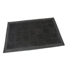 FLOMAT Gumová vstupní kartáčová rohož Pin Squares - 60 x 40 x 0,7 cm