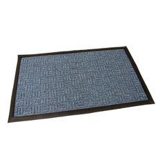 FLOMAT Modrá textilní vstupní rohož Criss Cross - 75 x 45 x 1 cm