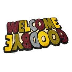 FLOMAT Kokosová vstupní rohož Welcome - Goodbye - 75 x 45 x 1,7 cm