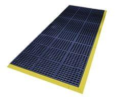 Modrá gumová protiskluzová protiúnavová průmyslová modulární rohož Fatigue - 90 x 90 x 1,6 cm