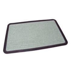 FLOMAT Zelená textilní vstupní rohož Stripes - 80 x 50 x 0,8 cm
