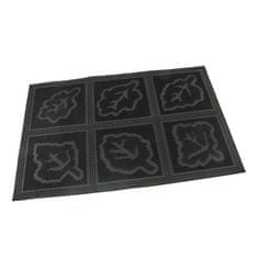 FLOMAT Gumová vstupní kartáčová rohož Leaves - Squares - 60 x 40 x 0,7 cm
