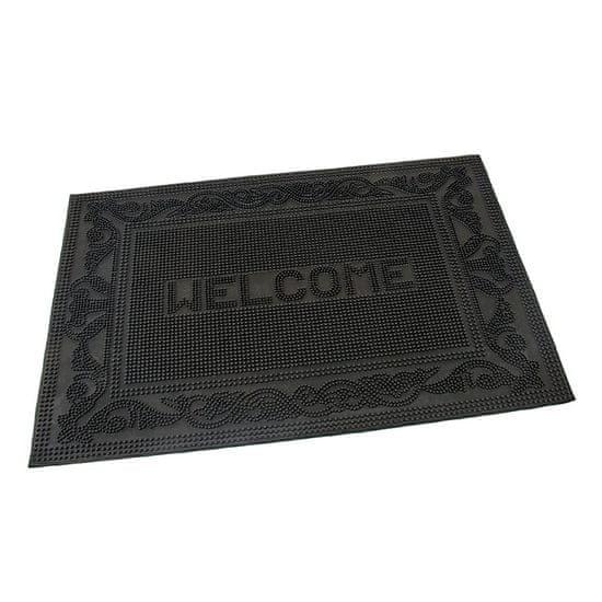 FLOMA Gumová vstupní kartáčová rohož Welcome - Deco - 60 x 40 x 0,7 cm
