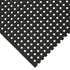 Černá gumová protiskluzová průmyslová rohož - 90 cm a 1 cm