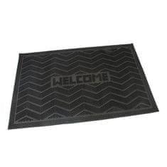 FLOMAT Gumová vstupní kartáčová rohož Welcome - Waves - 60 x 40 x 0,8 cm