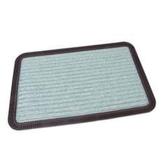 FLOMAT Zelená textilní vstupní rohož Stripes - 60 x 40 x 0,8 cm