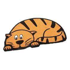 FLOMAT Kokosová vstupní rohož Cute Cat - 75 x 45 x 1,7 cm