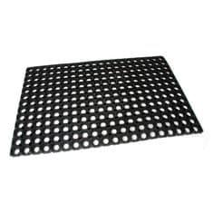 FLOMAT Gumová vstupní čistící rohož na hrubé nečistoty Honeycomb - 80 x 50 x 2,2 cm
