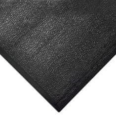 Černá gumová protiúnavová průmyslová rohož - 1,25 cm